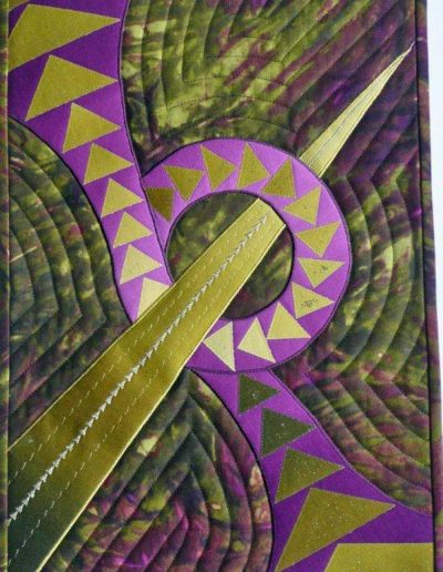 <p>Paducah Memories 2011</p> <p>Made for Region 16 QGBI Suitcase Collection</p>   <p>Inspired by a trip to Caryl Bryer Fallert&#8217;s Studio during a visit to Paducah Quilt Show.   Several of her quilts were on display and this quilt is made from fabric bought in her shop.