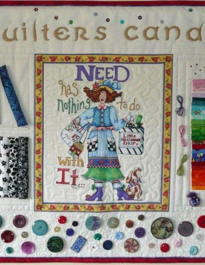 <p>Quilters Candy</p>   <p>Made for QGBI Regional Day Challenge 2013 &#8211; Theme &#8216;Temptation&#8217;