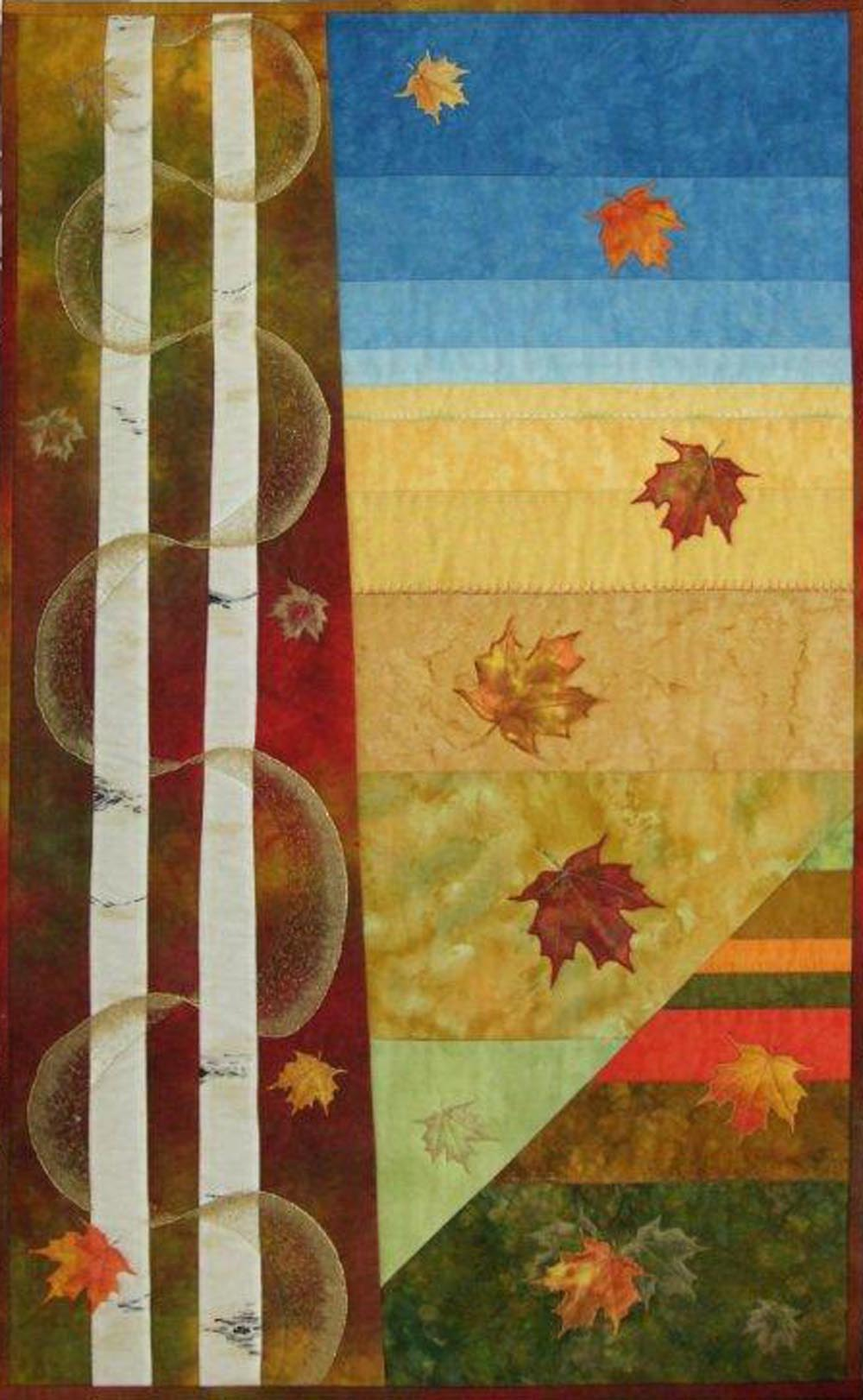 <p>Who has seen the Wind? </p> <p>Completed 2010</p>  <p>Inspiration came from a happy holiday in USA during Fall Festival.  The days were crisp and the sun, shining from an amazing blue sky,  highlighted the beautiful colours covering the vast rolling hills.